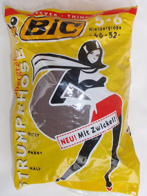 While there may be a market for disposable underwear, this venture was not a success for Bic.