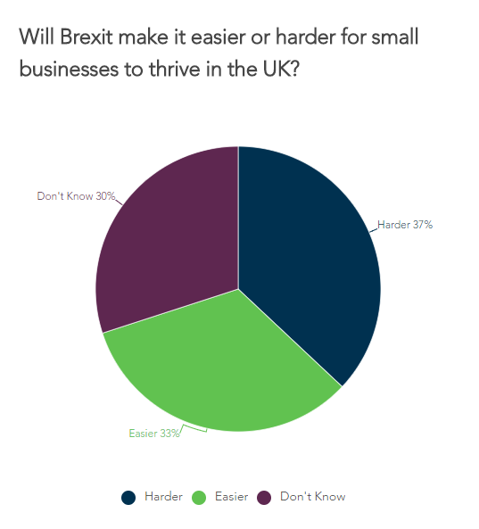 We asked small business owners if Brexit will make it easier or harder to thrive in the UK
