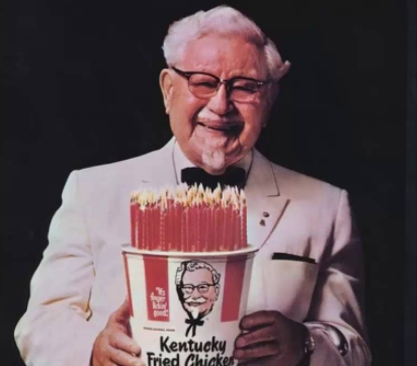 At age 65 Colonel Sanders sold his first restaurant and began focusing on his fried chicken recipe, with the aim of making it a franchise.