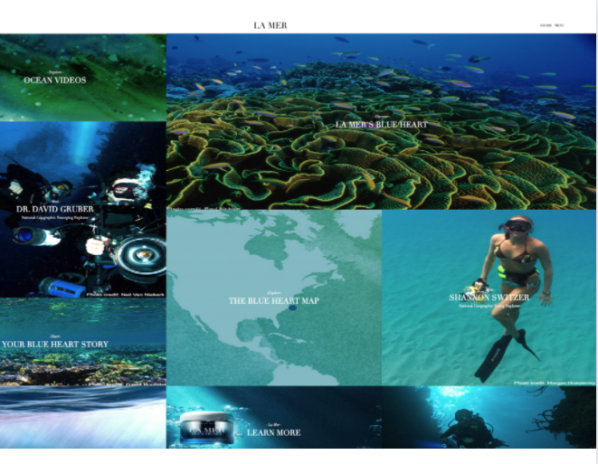 This landing page from La Mer creates a seamless experience for the consumer from email to website
