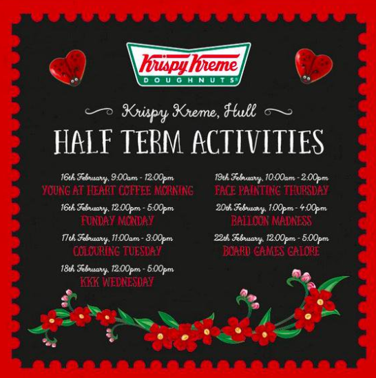 Advertisement for Krispy Kreme Klub Wednesday - or KKK Wednesday as it was unfortunately titled
