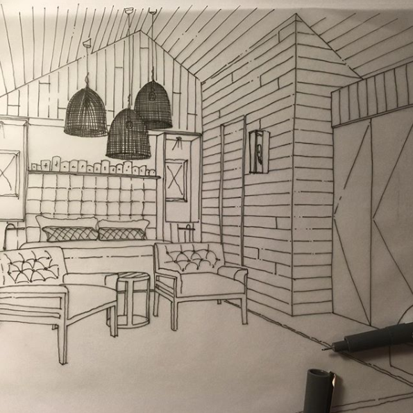 Sketch proposals for a boutique coastal chalet concept via @lewisknox_