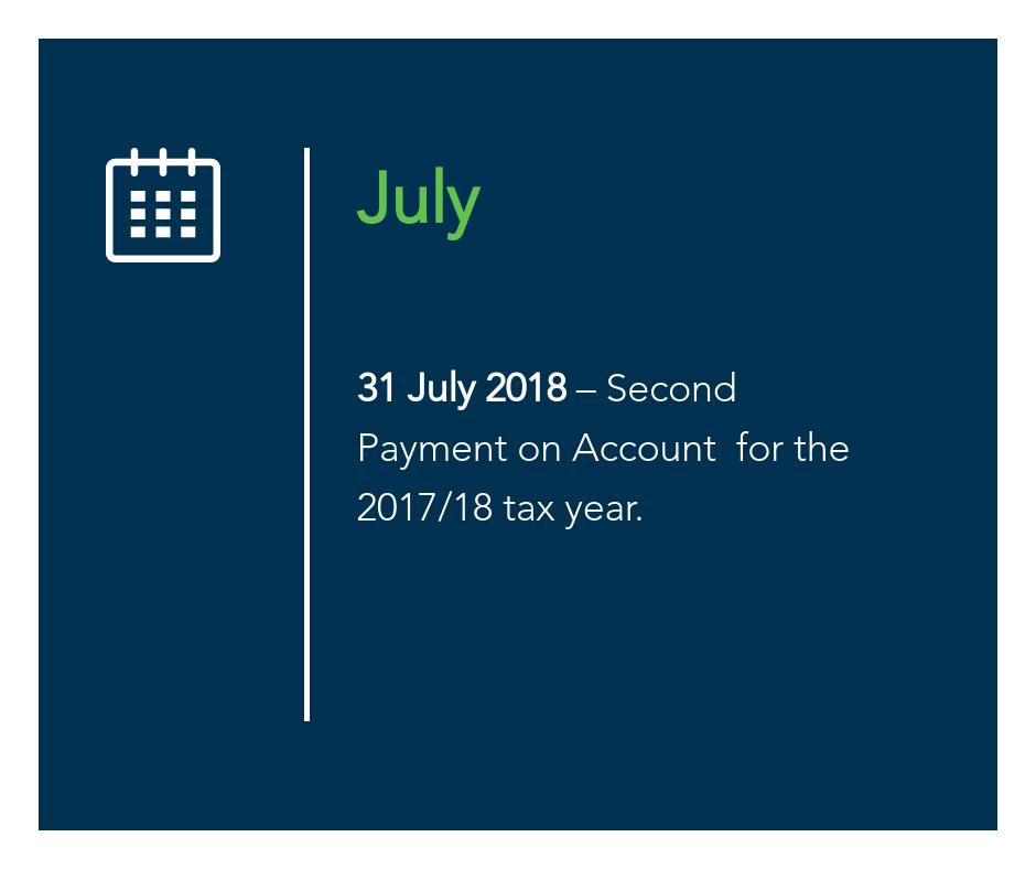 July key tax dates