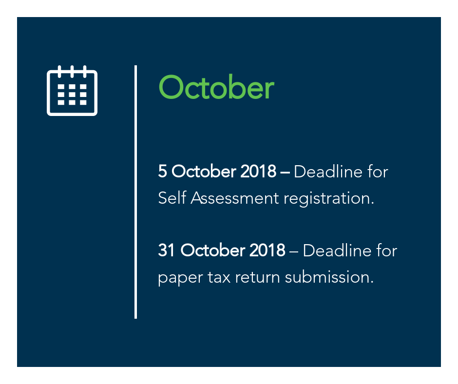October key tax dates