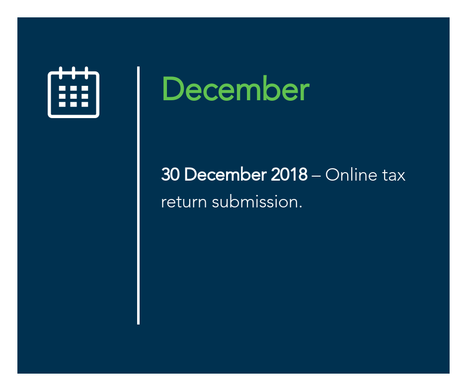 December key tax dates