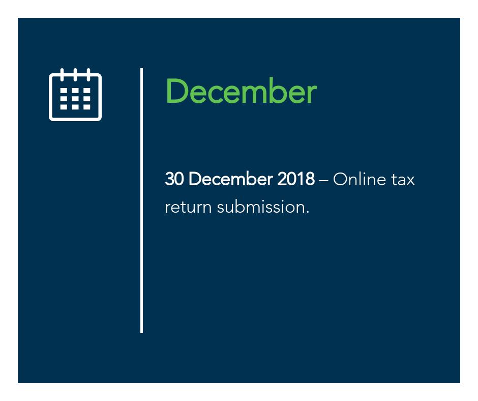 December key tax dates