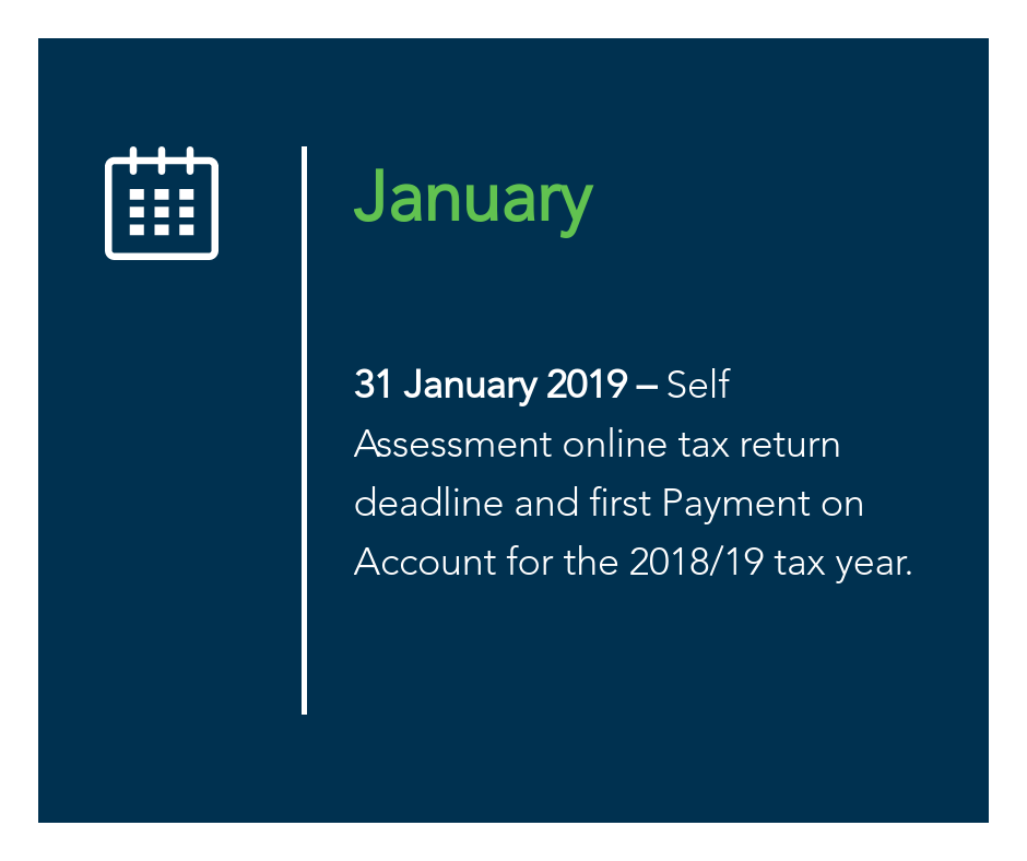 January key tax dates