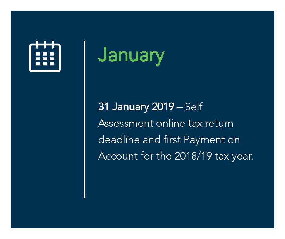 January key tax dates