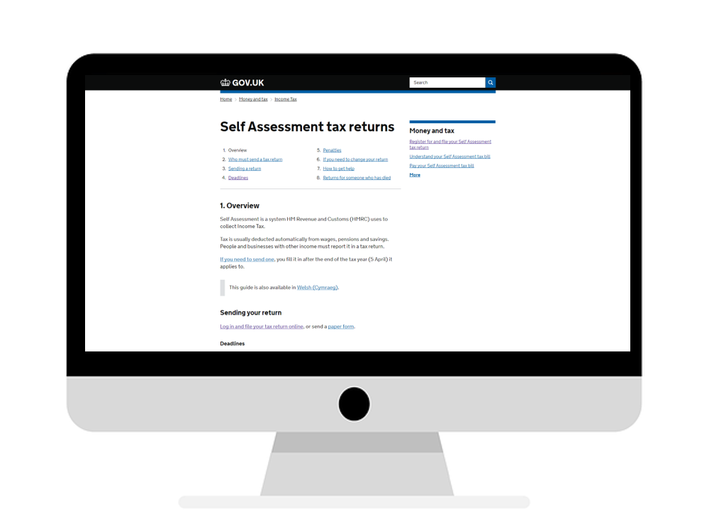 As many as 90% of people who need to complete a Self Assessment now choose to do so via HMRC.