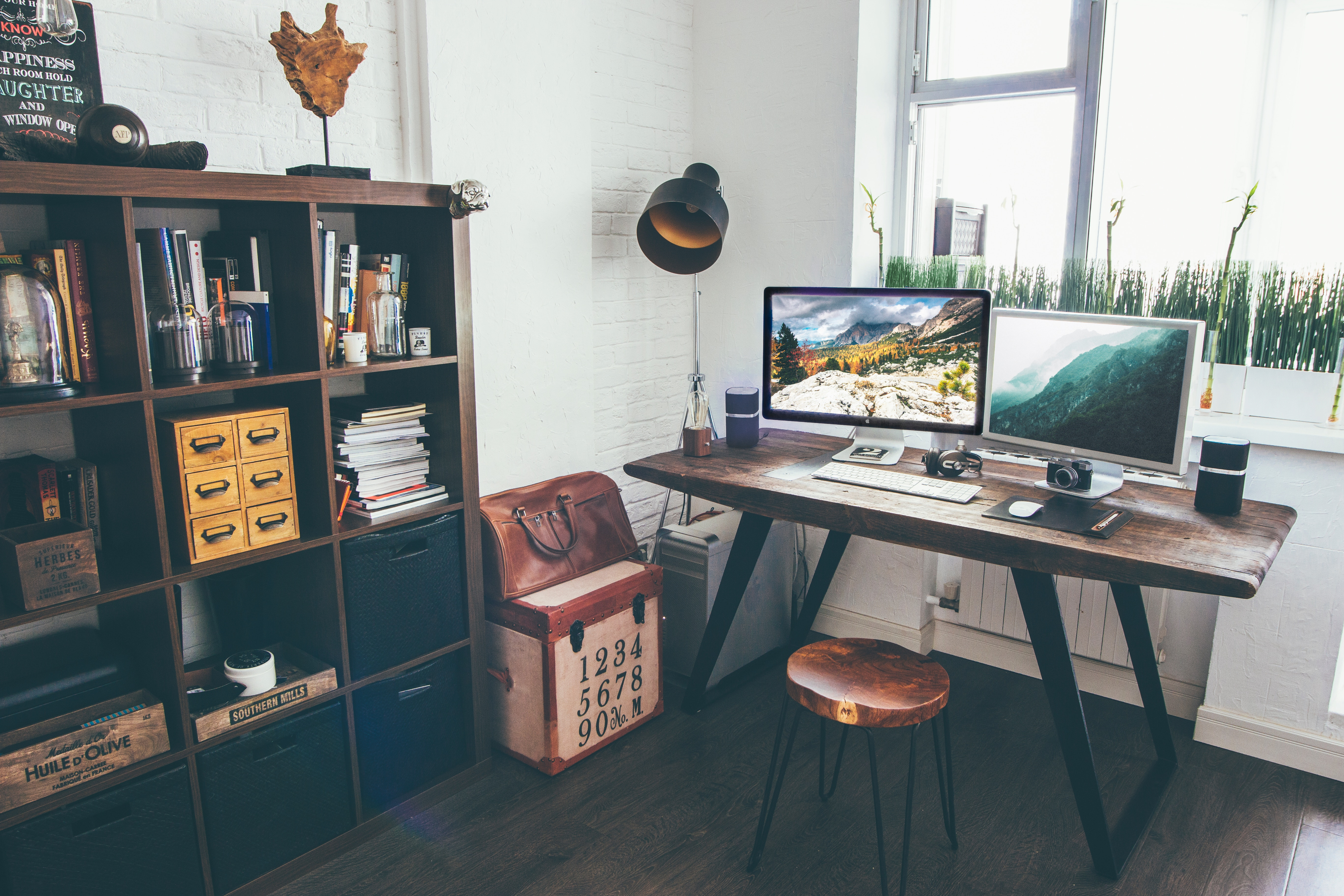 Creating a home workspace, especially if it is imaginatively decorated, can be a great way to promote your business on social media.