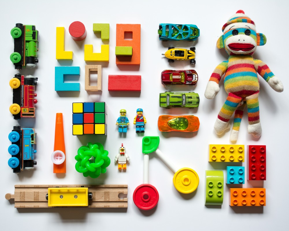 Toys laid out