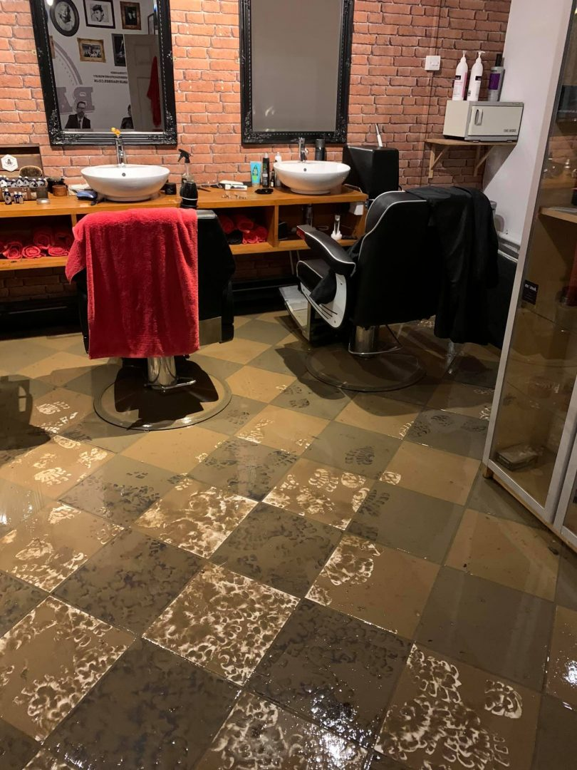 Floodwater damage